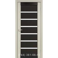 Двері КОРФАД PORTO COMBI COLORE PC-02 дуб білений/венге зі склом (сатин матовий)