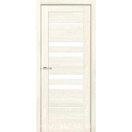 Двери Rino 06 дуб Остин со стеклом (сатин матовый)