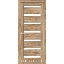 Двері Rino 07 дуб Ориндж зі склом (сатин матовий)