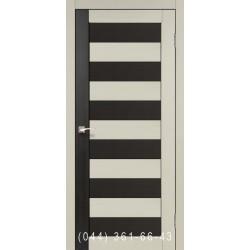 Двери КОРФАД PORTO COMBI COLORE PC-03 дуб беленый/венге со стеклом (сатин матовый)