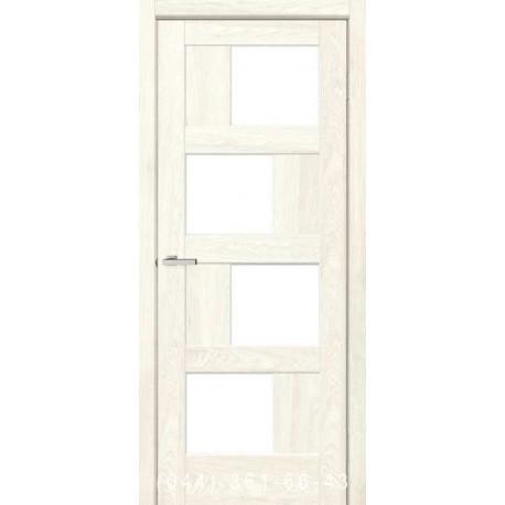 Двери Rino 09 дуб Остин со стеклом (сатин матовый)