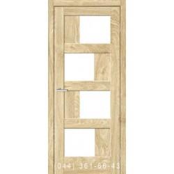 Двері Rino 09 дуб Саванна зі склом (сатин матовий)