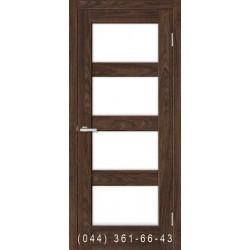 Двері Rino 10 дуб Такома зі склом (сатин матовий)