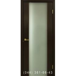 Двері Прем'єра венге зі склом (триплекс)