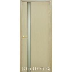 Двері Прем'єра 1 дуб білений зі склом (триплекс)