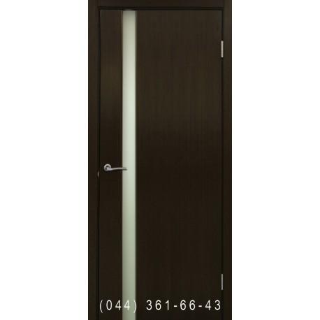 Двери Премьера 1 венге со стеклом (триплекс)