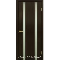 Двері Прем'єра 2 венге зі склом (триплекс)