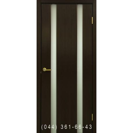 Двери Премьера 2 венге со стеклом (триплекс)