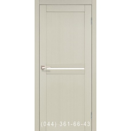 Двери КОРФАД MILANO ML-02 дуб беленый со стеклом (сатин матовый)
