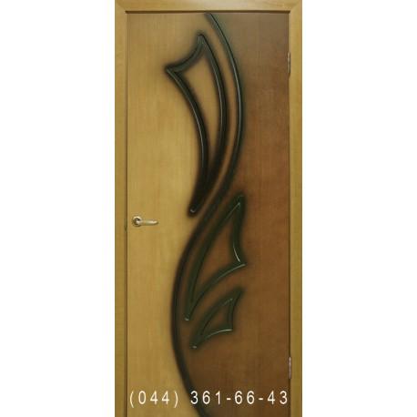 Двери Лилия 2 дуб натуральный двухцветный глухое
