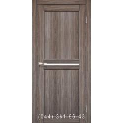 Двери КОРФАД MILANO ML-02 дуб грей со стеклом (сатин матовый)