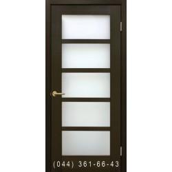 Двери Вена венге со стеклом (сатин матовый)