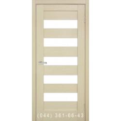 Двери Рим дуб беленый со стеклом (сатин матовый)