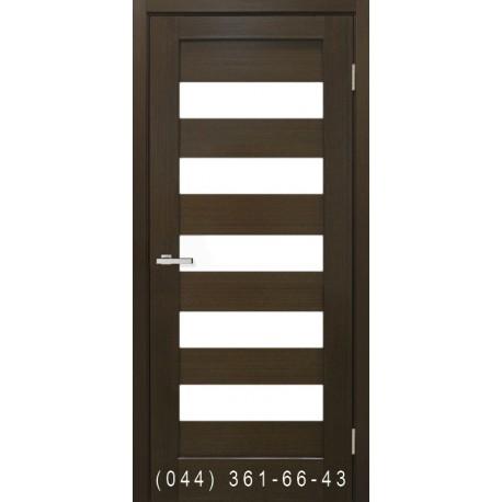 Двери Рим венге со стеклом (сатин матовый)