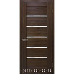 Двері Токіо палісандр люкс зі склом (сатин матовий)