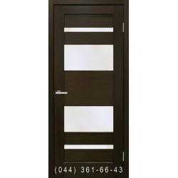 Двері Берлін венге зі склом (сатин матовий)