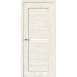 Двери Лючия сосна Сицилия со стеклом (сатин матовый)