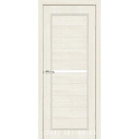 Двері Лючія сосна Сицилія зі склом (сатин матовий)