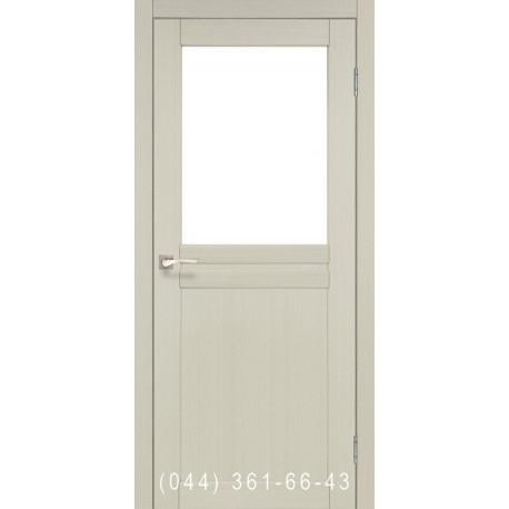 Двері КОРФАД MILANO ML-03 дуб білений зі склом (сатин матовий)