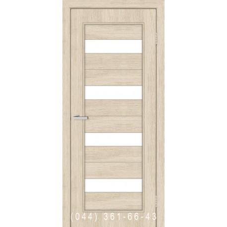 Двери Грация сосна Карелия со стеклом (сатин матовый)