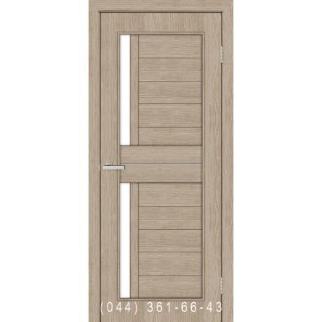 Двері Амелія сосна Мадейра зі склом (сатин матовий)