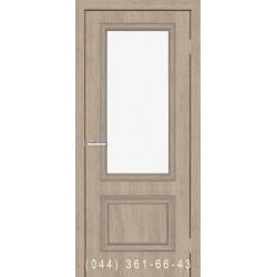 Двери Флоренция 1.1 сосна Мадейра со стеклом (сатин матовый)