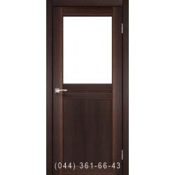 Двери КОРФАД MILANO ML-03 орех со стеклом (сатин матовый)