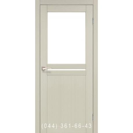Двери КОРФАД MILANO ML-04 дуб беленый со стеклом (сатин матовый)