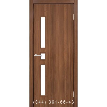 Двері Комфорт вільха європейська зі склом (сатин матовий)