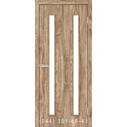 Двери Вероника дуб Ориндж со стеклом (сатин матовый)