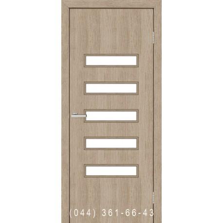 Двери Аккорд 3 сосна Мадейра со стеклом (сатин матовый)