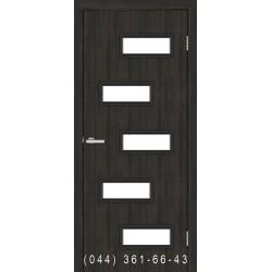 Двери Этюд венге со стеклом (сатин матовый)