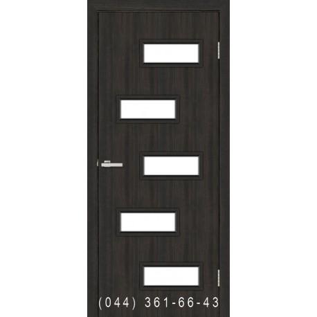Двері Етюд венге зі склом (сатин матовий)