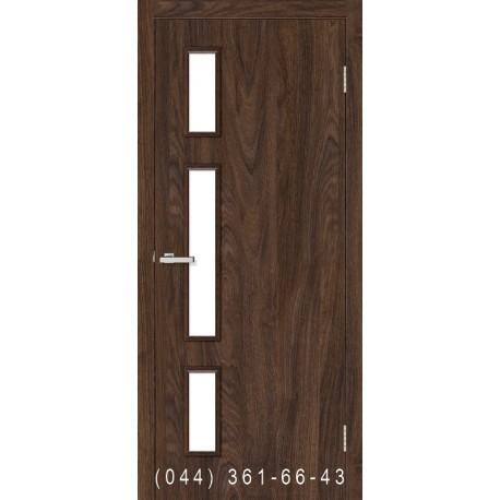 Двері Соло дуб Такома зі склом (сатин матовий)