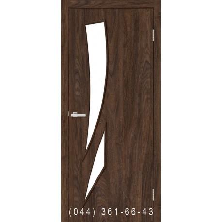 Двері Фієста дуб Такома зі склом (сатин матовий)