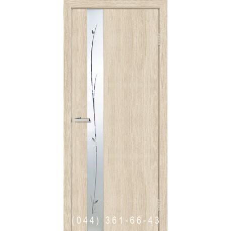 Двери Зеркало 1.1 сосна Карелия глухое + вставка зеркало