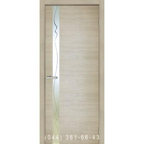 Двери Z 02 дуб Latte глухое + вставка зеркало
