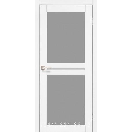 Двері КОРФАД MILANO ML-05 ясень білий зі склом (сатин матовий)