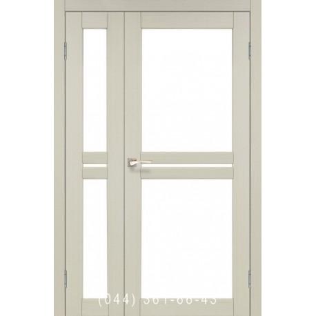 Двері КОРФАД MILANO ML-06 дуб білений зі склом (сатин матовий)