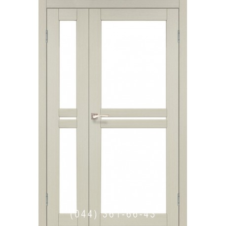 Двери КОРФАД MILANO ML-06 дуб беленый со стеклом (сатин матовый)