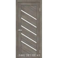 Двери Диана мокко со стеклом (сатин матовый)