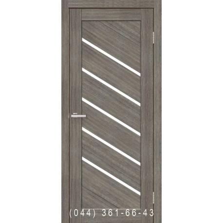 Двері Діана мокко зі склом (сатин матовий)