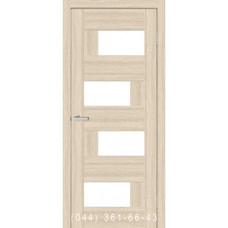 Двери Домино 2 дуб беленый со стеклом (сатин матовый)