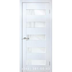 Двери Форте белый со стеклом (сатин матовый)