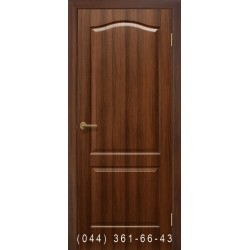 Двери Классика ПВХ орех глухое