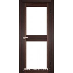 Двери КОРФАД MILANO ML-07 орех со стеклом (сатин матовый)