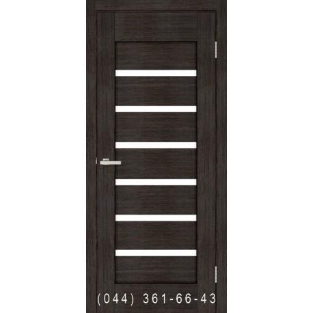 Двери Лагуна венге со стеклом (сатин матовый)