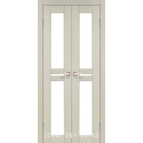 Двери КОРФАД MILANO ML-08 дуб беленый со стеклом (сатин матовый)