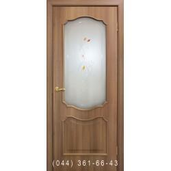 Двери Прованс ПВХ дуб золотой со стеклом (сатин матовый)
