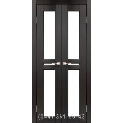 Двери КОРФАД MILANO ML-08 венге со стеклом (сатин матовый)